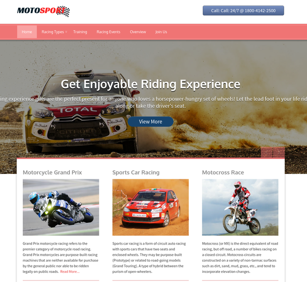 moto sports wp theme