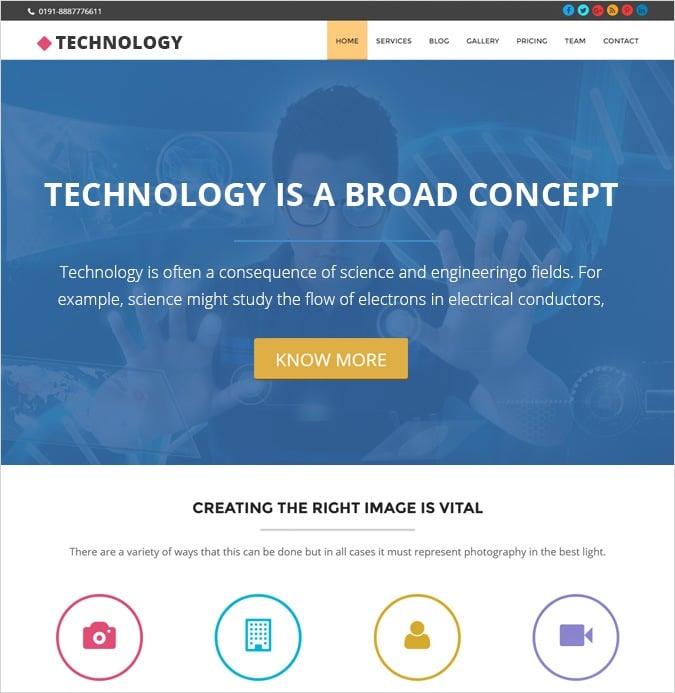 onepage theme-Technology