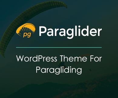 Paraglider - Paragliding WordPress Theme