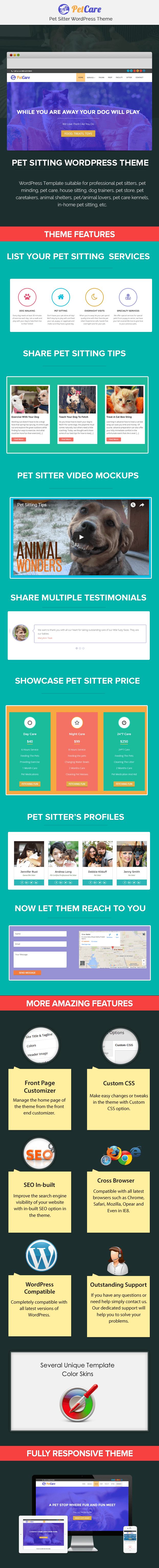 petcare-pet-sitting-wordpress-theme-Sale-page