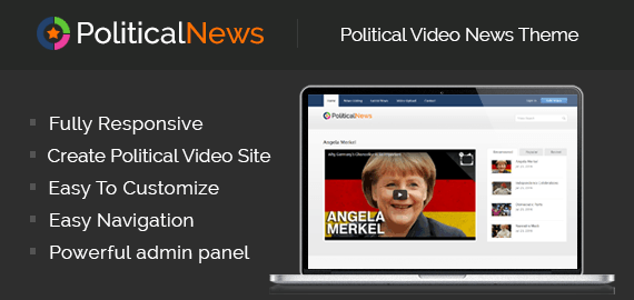 PoliticalNews – Political Video News Theme For News Channels
