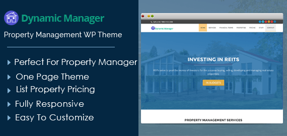 DynamicManager – Property Management WordPress Theme For Realtors