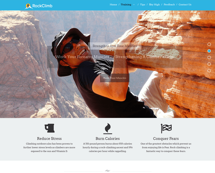 rock climb wp theme