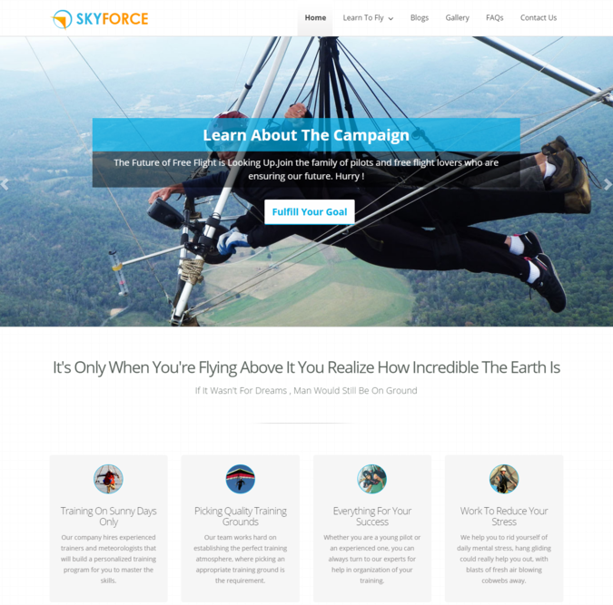 sky force wp theme