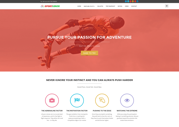 sport lover wp theme