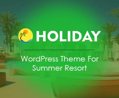 Holiday - Summer Resort Online Booking WordPress Theme