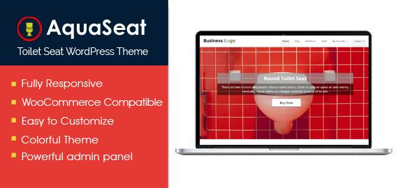 AquaSeat – Toilet Seat WordPress Theme