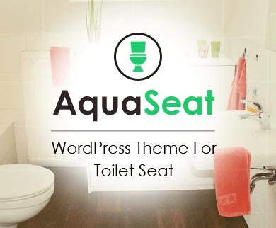 AquaSeat - Toilet Seat WordPress Theme
