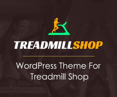 TreadmillShop - Treadmill Selling WordPress Theme