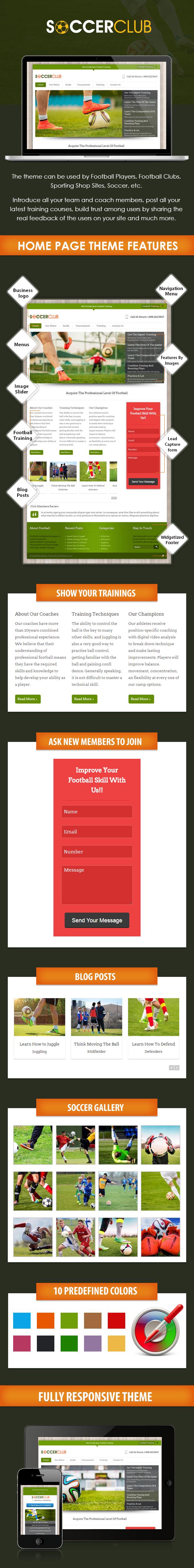 WordPress Football Theme InkThemes Sales Page Preview