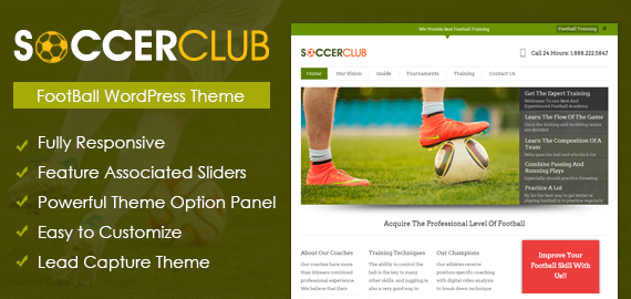 SoccerClub - WordPress Football Theme | InkThemes