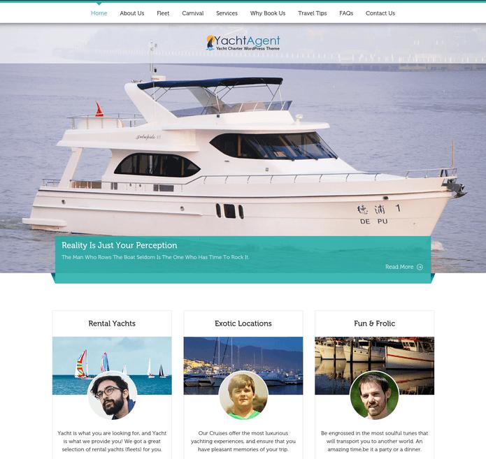 yacht agent wp theme