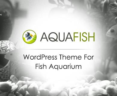 AquaFish - Fish Aquarium WordPress Theme