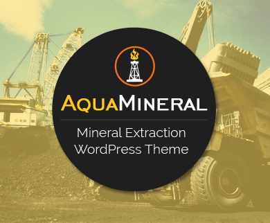 AquaMineral - Mineral Extraction & Mining Industry WordPress Theme