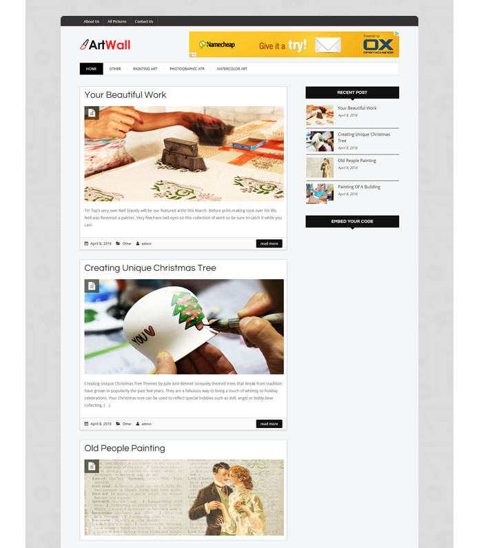 ArtBlog WordPress Theme
