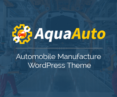 AquaAuto - Automobile Manufacture WordPress Theme
