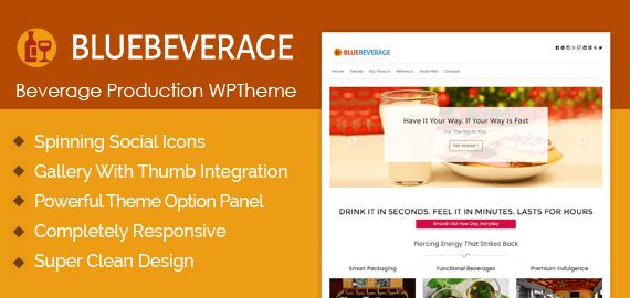 Beverage Production WordPress Theme