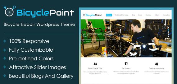Bicycle Repair WordPress Theme