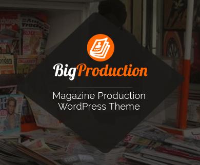 BigProduction - Magazine Production WordPress Theme