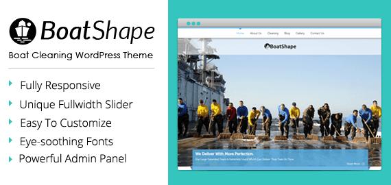 Boat Cleaning WordPress Theme
