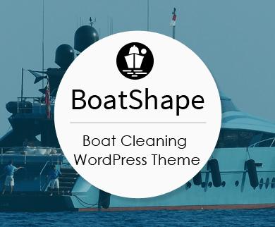 BoatShape - Boat Valeting & Cleaning WordPress Theme