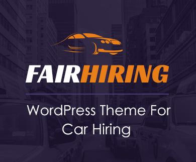 FairHiring - Online Booking Car Hire WordPress Theme