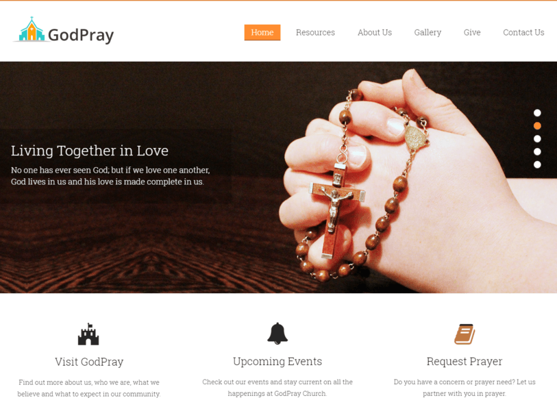 Church Nonprofit WordPress Theme InkThemes