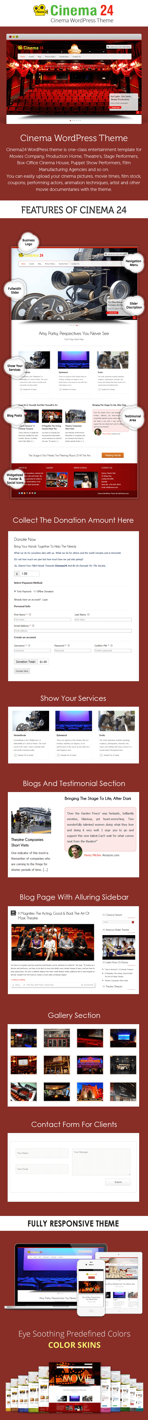Cinema WordPress Theme