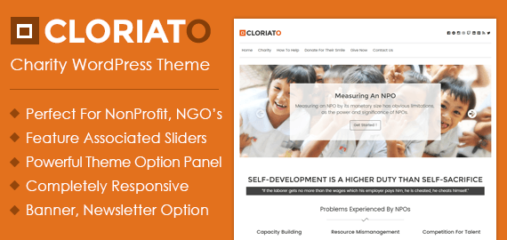 CLORIATO WORDPRESS CHARITY THEME