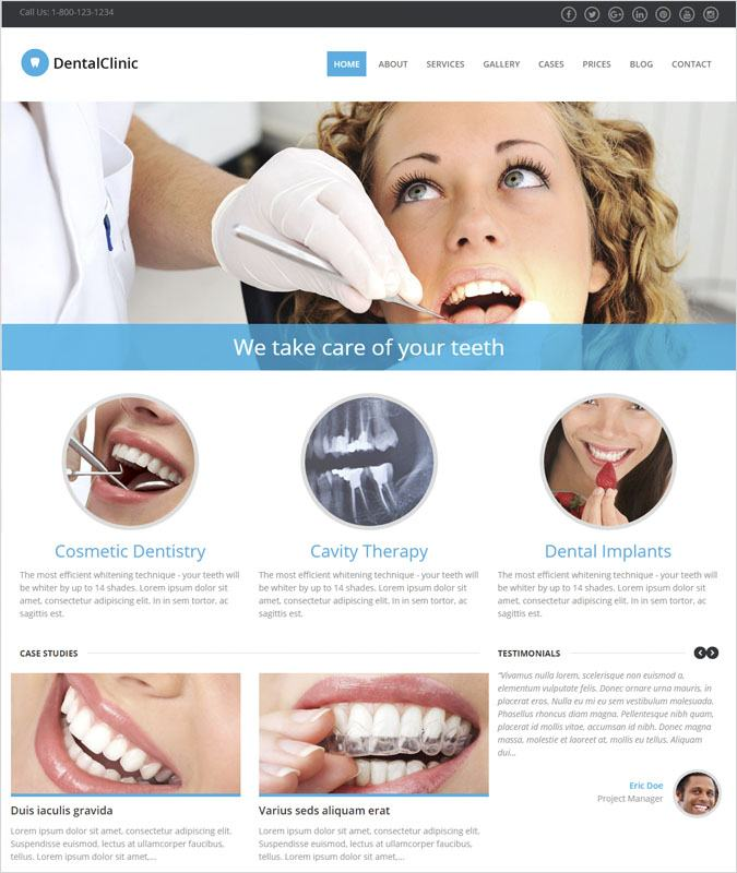 DentalClinic WP theme