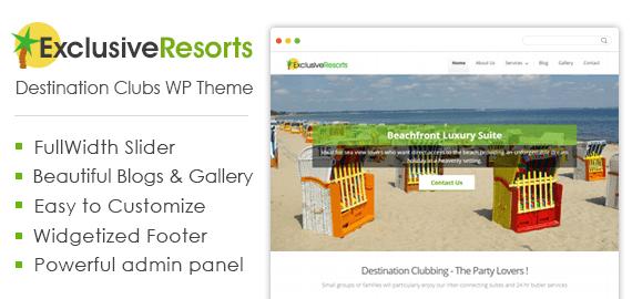 Destination Clubs WordPress Theme