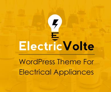 ElectricVolte - Electrical Appliances WooCommerce WordPress Theme
