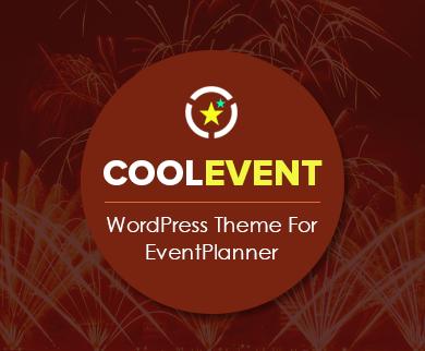 CoolEvent - Event Planner  WordPress Theme