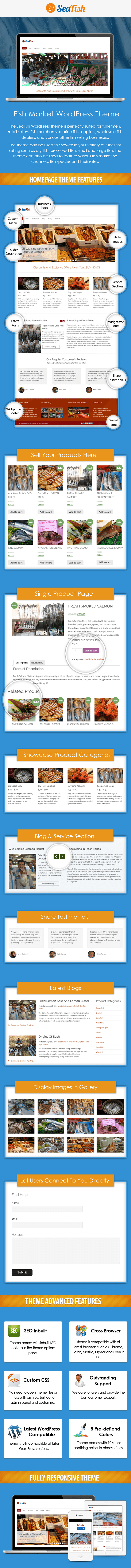Fish Market WordPress Theme