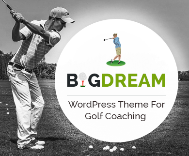 BigDream - Golf Coaching WordPress Theme