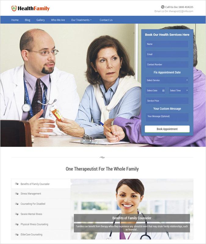 HealthFamily WP theme