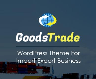 GoodsTrade - Import Export Business WordPress Theme
