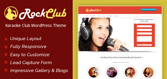 Karaoke Club WordPress Theme