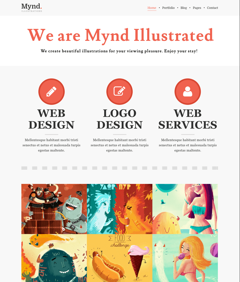 Mynd – Stylish WordPress Portfolio Theme for Creatives and Blogs