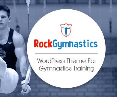 Rock Gymnastics - Gymnastics Training WordPress Theme