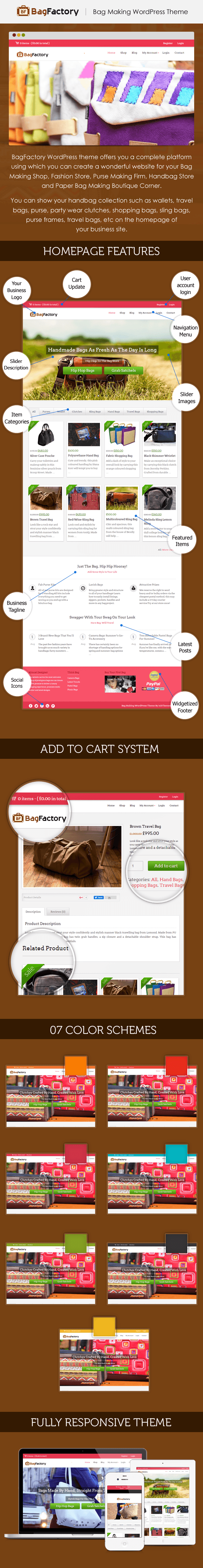 Bag making handbag collection wordpress theme inkthemes for Making wordpress templates