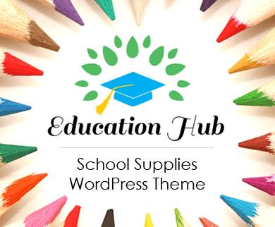 EducationHub - School Supplies WordPress Theme