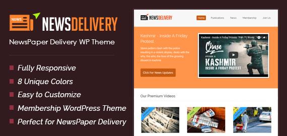 NewsDelivery – Newspaper Delivery WordPress Theme