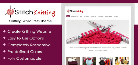Knitting WordPress Theme