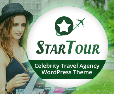 StarTour - Celebrity Travel Agency WordPress Theme