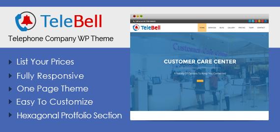 Telephone Company WordPress Theme