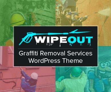 WipeOut - Graffiti & Street Art Removal Services WordPress Theme
