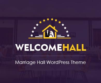 WelcomeHall - Marriage Hall WordPress Theme
