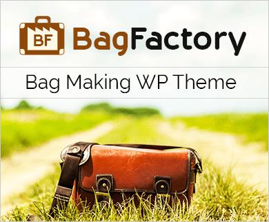BagFactory - Bag Making WordPress Theme