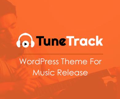 TuneTrack - Music Release WordPress Theme